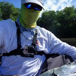 GoPro, belly boat a tarpon